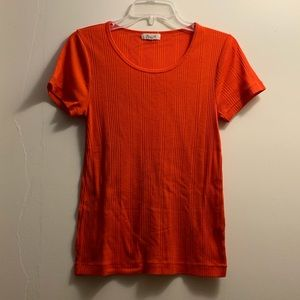 Madewell ribbed knit tee